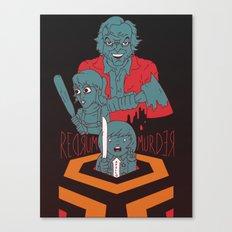 REDRUM//MURDER Canvas Print