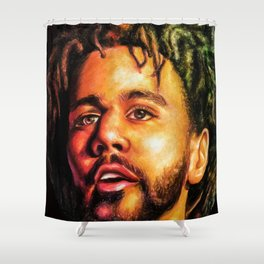 J.Cole Potrait Shower Curtain