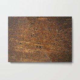 rusty iron texture Metal Print