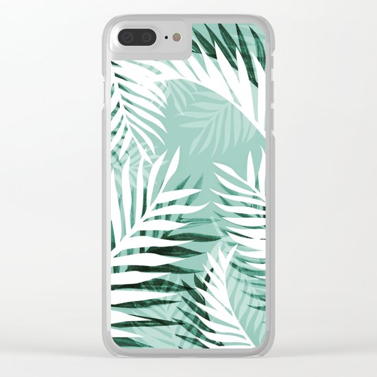 Tropical bliss - jungle green Clear iPhone Case
