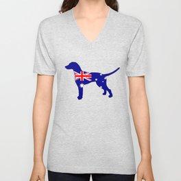 Australian Flag - Dalmatian Unisex V-Neck