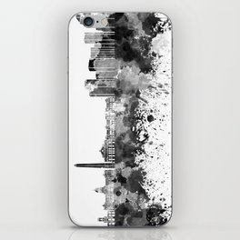 Buenos Aires skyline in black watercolor iPhone Skin