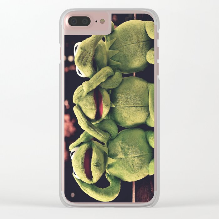 Kermit - Green Frog Clear iPhone Case