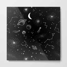 galactic pattern Metal Print