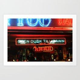 Open Dusk Till Dawn Art Print