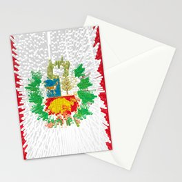 Extruded flag of Peru Stationery Cards