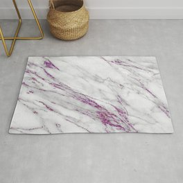 Gray and Ultra Violet Marble Agate Rug