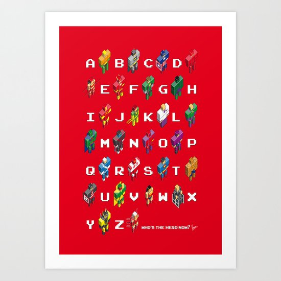 My Super ABC minimal poster Art Print