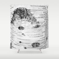 birch Shower Curtains featuring BIRCH by Kjellin