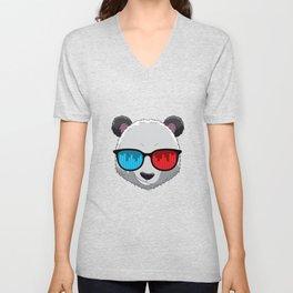 Party Animal DJ Pandas Music Party Beat Sunglasses Unisex V-Neck