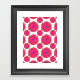 Pink Mandalas Framed Art Print