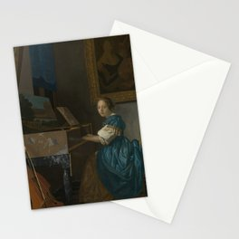 "Johannes Vermeer ""Lady Seated at a Virginal"" Stationery Cards"