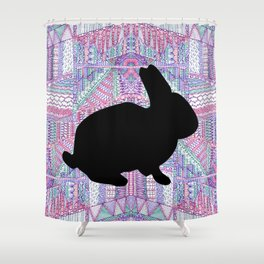 Rabbit Pattern Shower Curtain