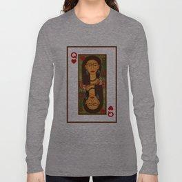 Frida Kahlo, reina de corazones Long Sleeve T-shirt
