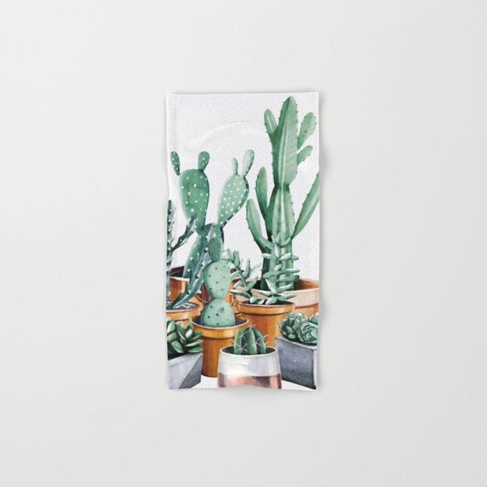 Potted Cacti Hand & Bath Towel