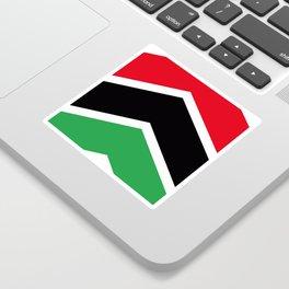 Chevron Libya Flag Colors Sticker