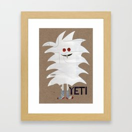 Yeti Sighting! Framed Art Print