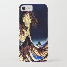 The GREAT Wave Midnight Blue Brown Slim Case iPhone 7