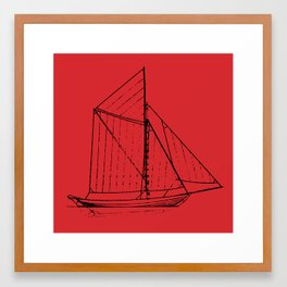 Eka Red Framed Art Print