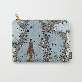 flying rockets in space and planets Carry-All Pouch