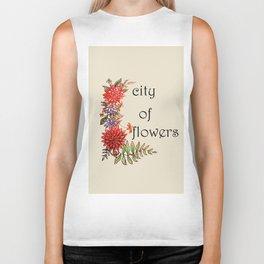 city of flowers . art . Biker Tank