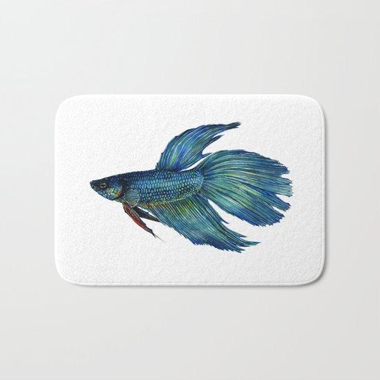 Mortimer the Betta Fish Bath Mat