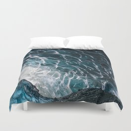 Cave of waves Duvet Cover