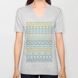 Aztec Influence Ptn Colorful Unisex V-Neck