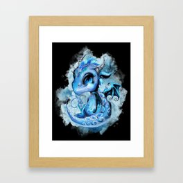 Lil DragonZ - Elements Series - Water Framed Art Print
