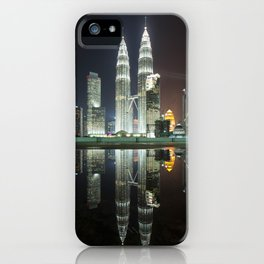 Petronas Towers Reflection iPhone Case