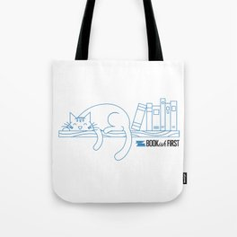 The Purrfect Reading Buddy Tote Bag