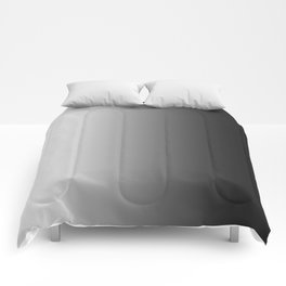 White to Black Vertical Linear Gradient Comforters