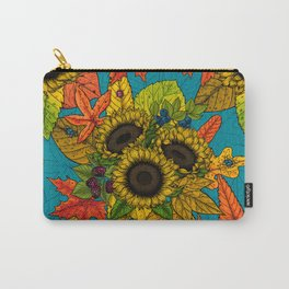 Autumn bouquet on blue Carry-All Pouch