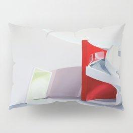spiral on red Pillow Sham