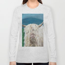 A Sweet Shaggy Highland Coo Long Sleeve T-shirt
