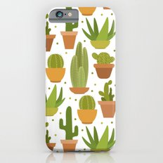 Cactuses white pattern iPhone 6 Slim Case