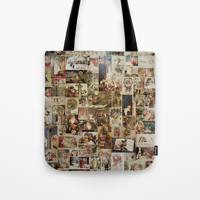 Merry Christmas- Santa angels & friends- collage Tote Bag