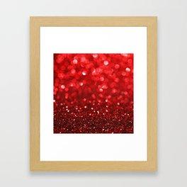 Ruby Red Disco Glitter & Sparkles Framed Art Print
