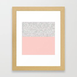 Marble With Poygone Framed Art Print