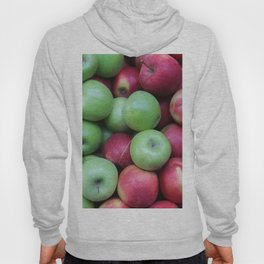 Green and red Apples Hoody