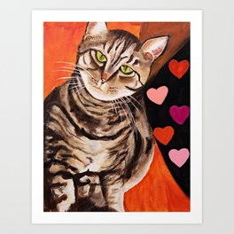 Love Tabbies Art Print