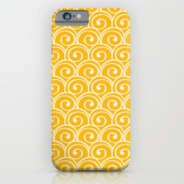 Yellow Sea Waves iPhone Case