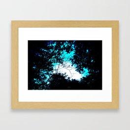 Color Bleed Leaves Framed Art Print
