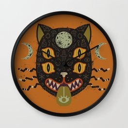 Spooky Cat Wall Clock