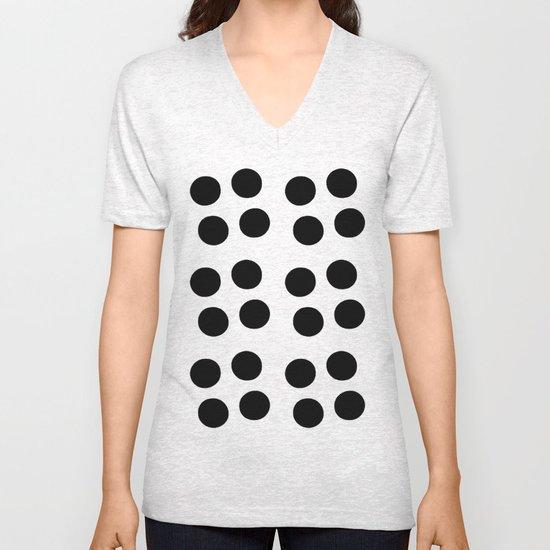 Copijn Black & White Dots Unisex V-Neck