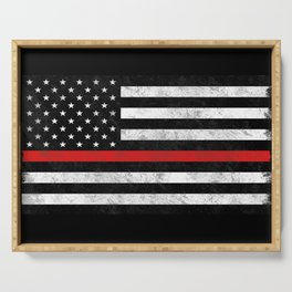 Thin Red Line Serving Tray