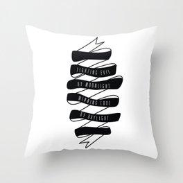 Fightin' Evil Winnin' Love Throw Pillow