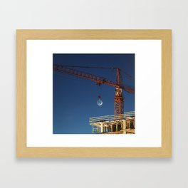 Lifting the Moon Framed Art Print