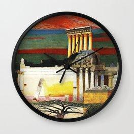 Helipolis Greek Temple Ruins by Csontváry Kosztka Tivadar Wall Clock