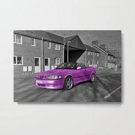 Pink Saab  Metal Print